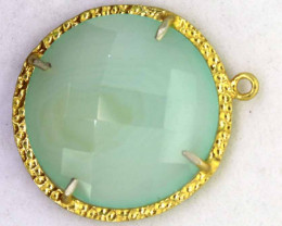 25.05CTS - FACETED CHALCEDONY PENDANT  RJA -676