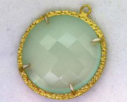 23.15CTS- FACETED CHALCEDONY PENDANT  RJA-681