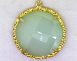 25.20CTS - FACETED CHALCEDONY PENDANT  RJA -684
