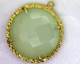 24.05CTS - FACETED CHALCEDONY PENDANT  RJA -686