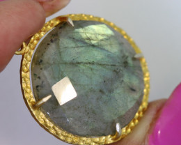 26.90CTS- FACETED LABRADORITE PENDANT RJA-695