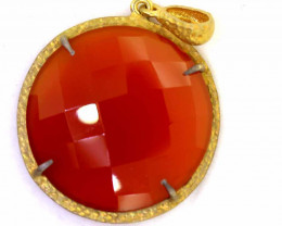 31.75CTS - FACETED CARNELIAN PENDANT RJA-713