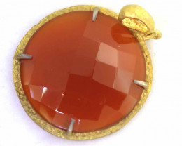 29 CTS - FACETED CARNELIAN PENDANT RJA-714
