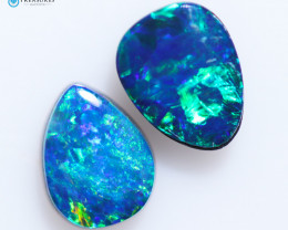 1.45Cts Coober Pedy Skin Shell Opal doublet   CH261