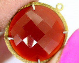 26.25CTS - FACETED CARNELIAN PENDANT RJA-720