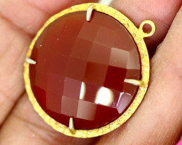 22.60CTS - FACETED CARNELIAN PENDANT RJA-721