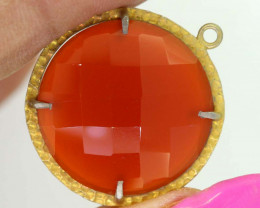 21.90CTS - FACETED CARNELIAN PENDANT RJA-724