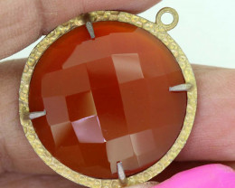 22.15 CTS - FACETED CARNELIAN PENDANT RJA-725