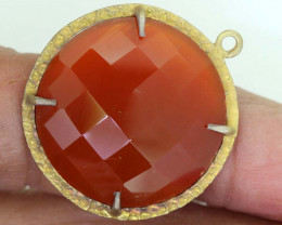 23.30CTS - FACETED CARNELIAN PENDANT RJA-726