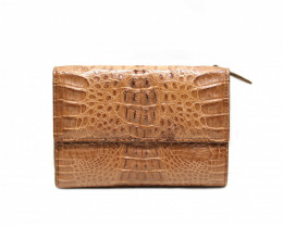 CROCODILE  BUTTON CLOSURE WALLET #nature