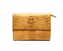 CROCODILE BUTTON CLOSURE WALLET #nature/light