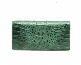 CROCODILE  WALLET #GREEN