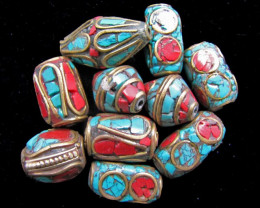 Parcel 9 Tribal FOCAL BEADS MJA 858