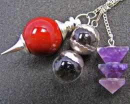 Three mixed Gemstone Pendulums MJA 566