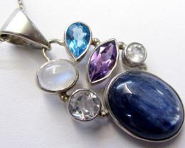Stunning Mixed  Gemstone Pendant MJA 285