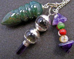 Three mixed Gemstone Pendulums MJA 569