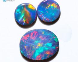 2.28Cts Parcel Australian Coober Pedy Opal Focal Doublet   CH296