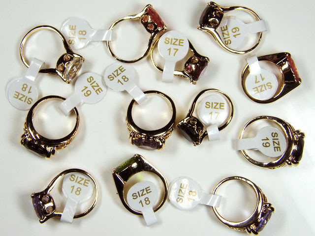 RESELLERS  DEAL12 MIXED  MAN MADE  GEMSTONE RINGS  AAT 757