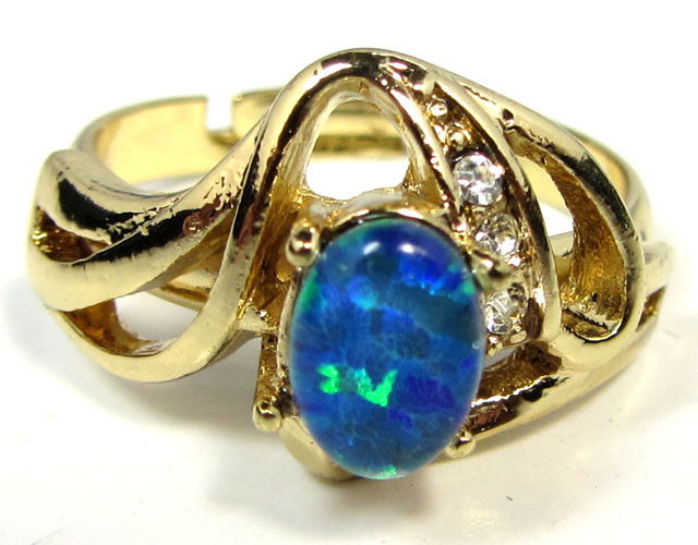BRIGHT OPAL RING ADJUSTABLE SIZES  CSS 167