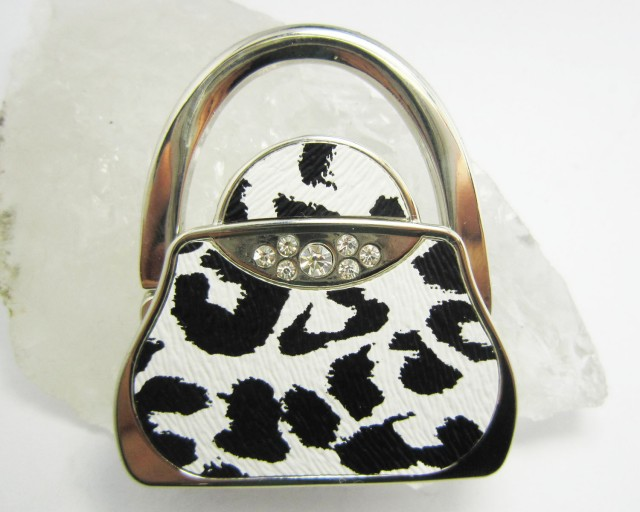 BLACK -WHITE  WELL MADE CUTE HANDBAG HOLDER QT 559