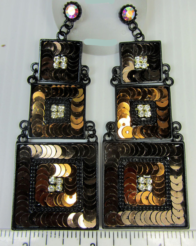 3 TIER STUNNING SEQUINCE EARRINGS QT 139