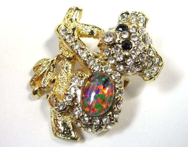 CUTE KOALA STYLISH OPAL  BROOCH CSS 246