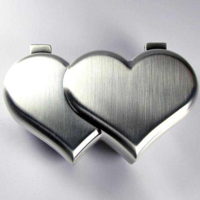DUAL HEART SHAPE JEWELRY TRINKET BOX  GRR 604
