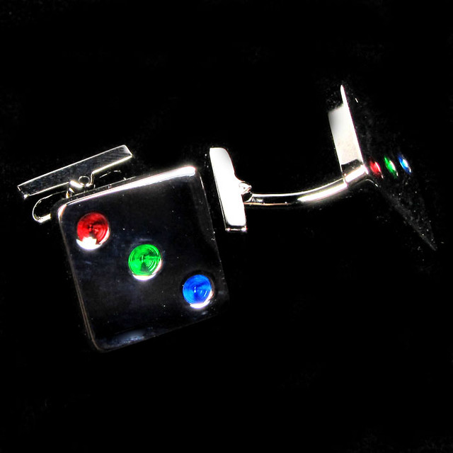 COLOURFUL DICE  MENS CUFFLINKS IN GIFT BOX AAT 1706