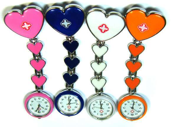 TRADE DEAL OF FOUR  HEART  NURSE  WATCHES  AAA 2788