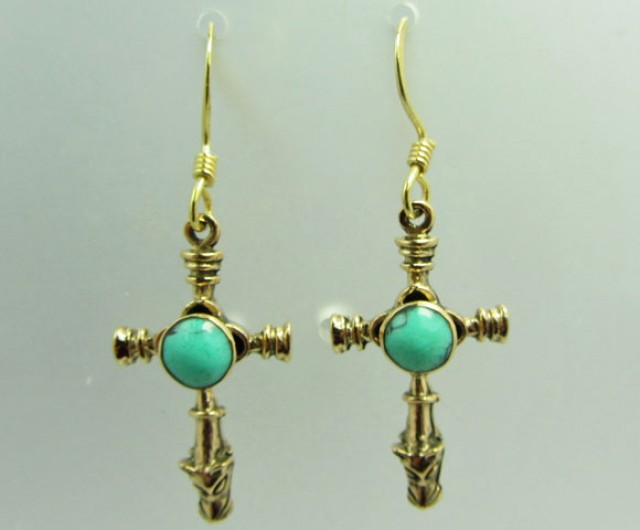 BRONZE   EARRING  SHEPPARD HOOK  QT 684