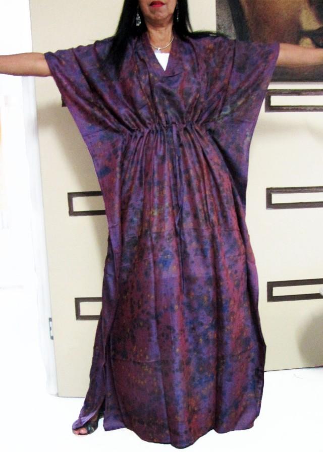 Purple Hues Silk Kaftan Dress  OP 1402