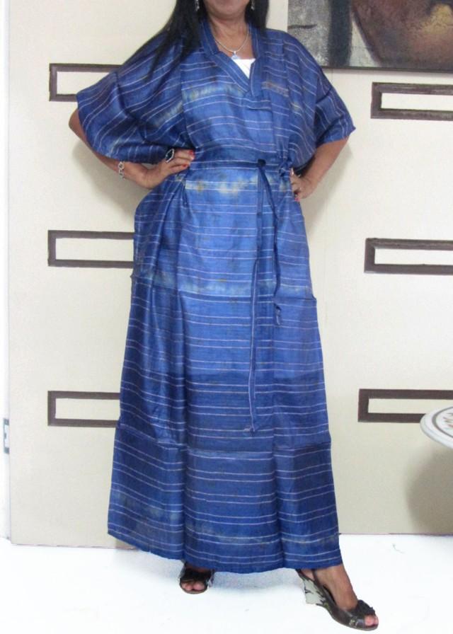 Silk Kaftan Dress purple   OP 1410