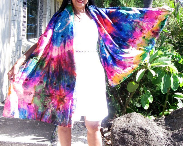 Silk Wrap around  Dress  OP 1413