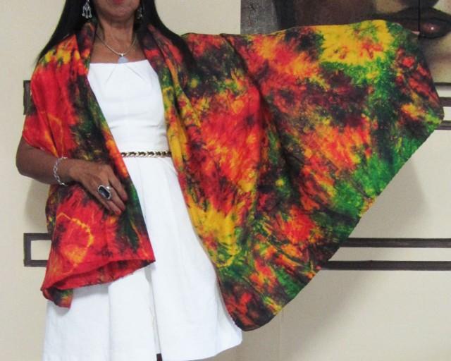 Bright Silk Wrap around  Dress  OP 1414