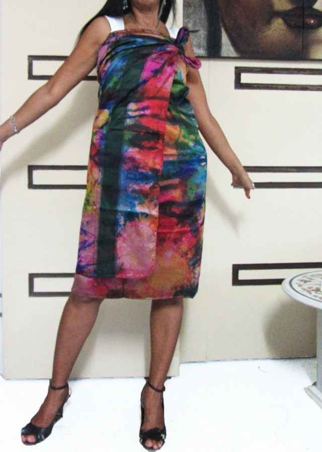 Silk Wrap around  Dress  OP 1415