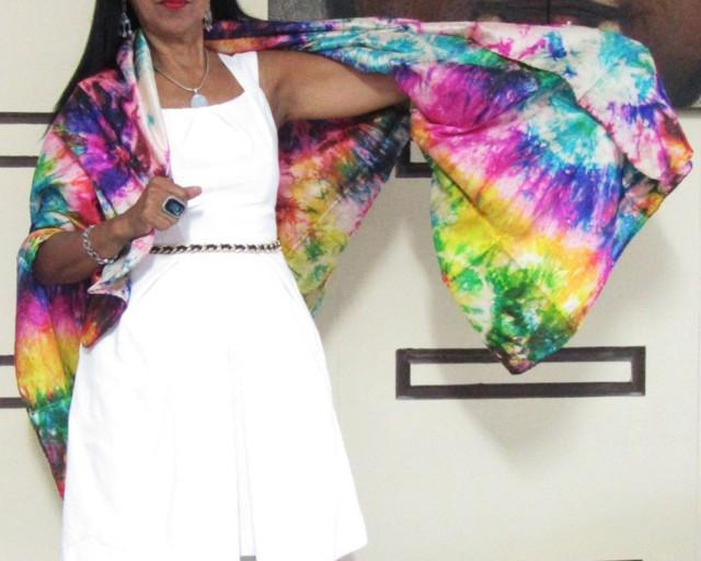 Silk Wrap around  Dress  OP 1416