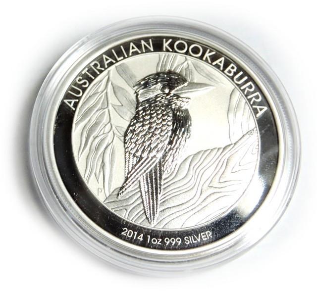 2014 Kookaburra One Ounce 99.9 % Pure Silver Coin
