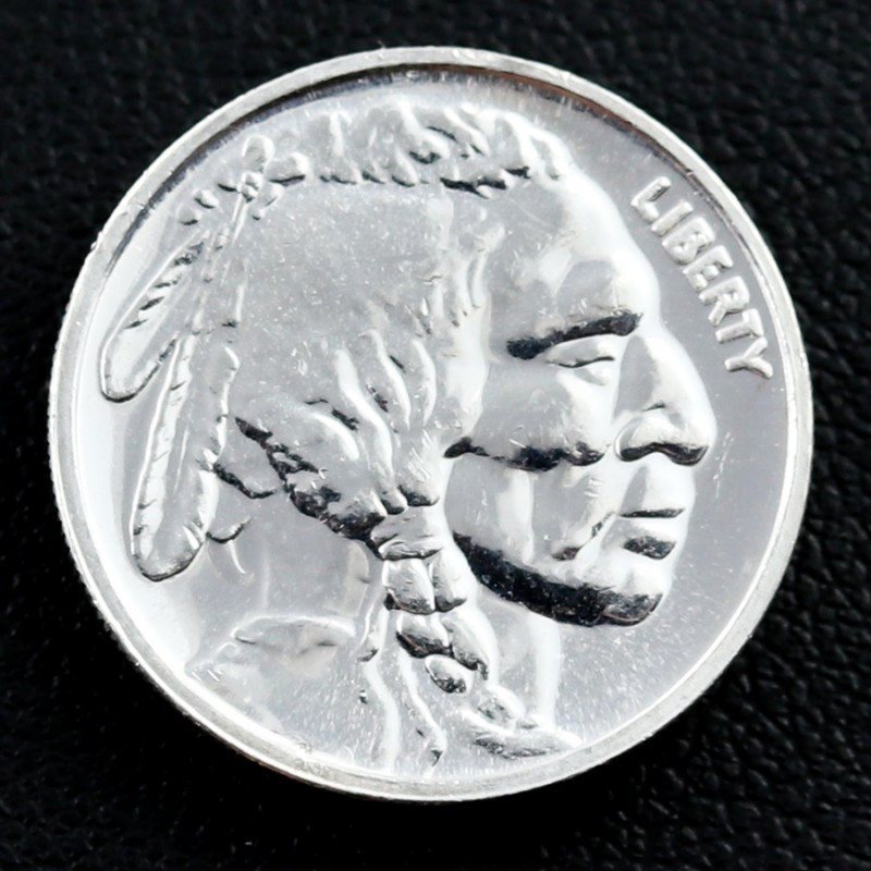 2014 1/10 ounce silver buffalo coin 99.9%