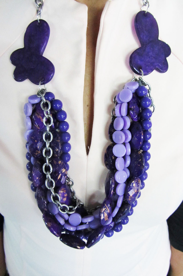 FASHION PURPLE HUES   STYLE  NECKLACE    QT211