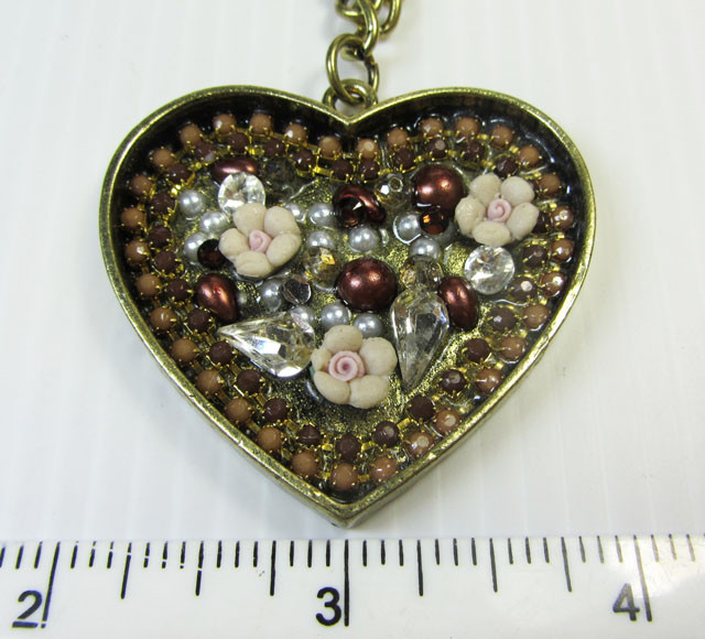 FASHION HEART N FLOWER    STYLE  NECKLACE    QT246