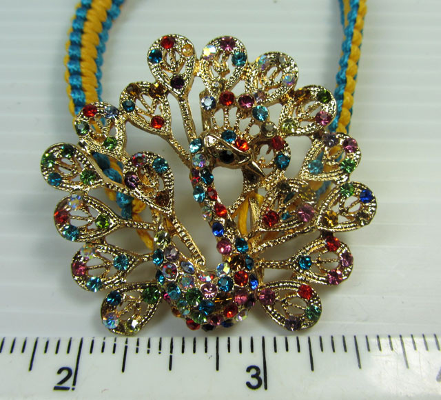 COLORFUL GOLD PLATED PEACOCK BRACELET  QT 318