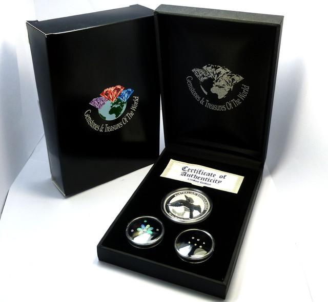 Treasures Collector set Gold ,Diamonds O Silver Kookaburra AGS 102