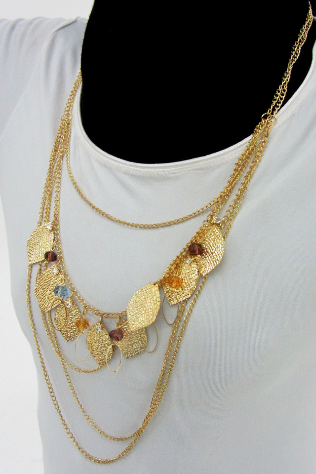 LONG FASHION  STYLE  NECKLACE    QT 458