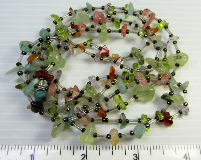 100 CM LONG GEMSTONE  STYLE  NECKLACE    QT 465