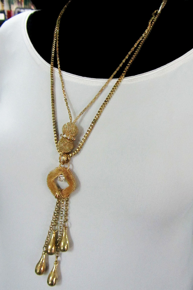 LONG FASHION  STYLE  NECKLACE    QT 467