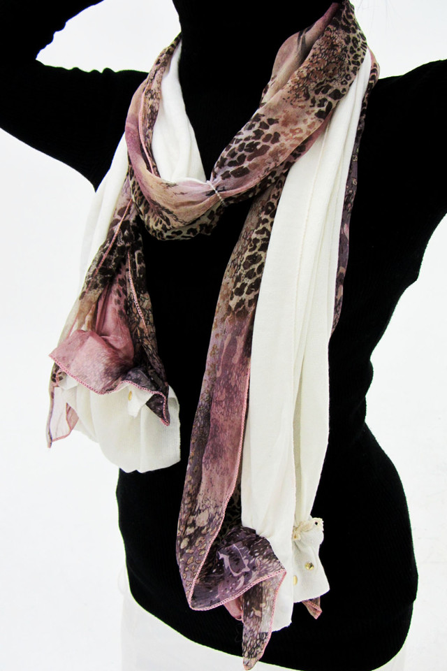 TWO TONE SCARF  SCARF  QT 491