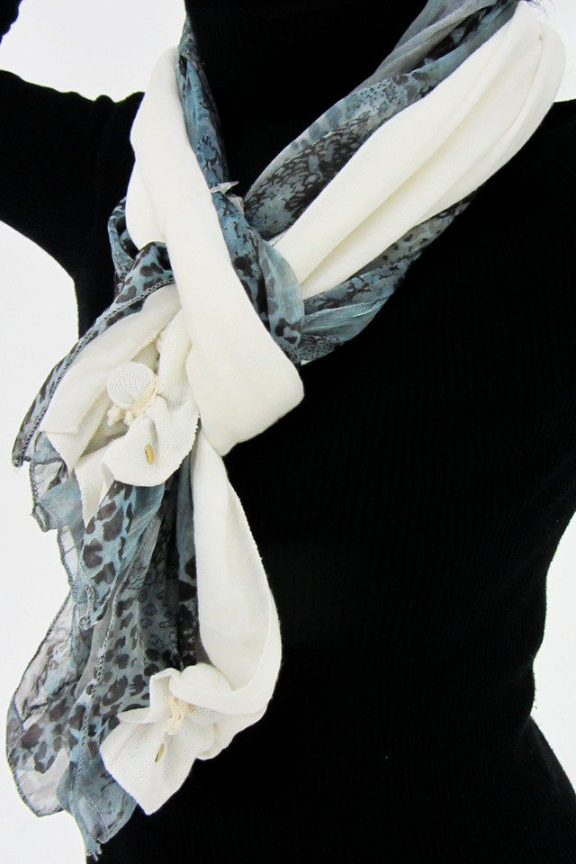 ONE METER LONG DUAL SCARF   QT 498