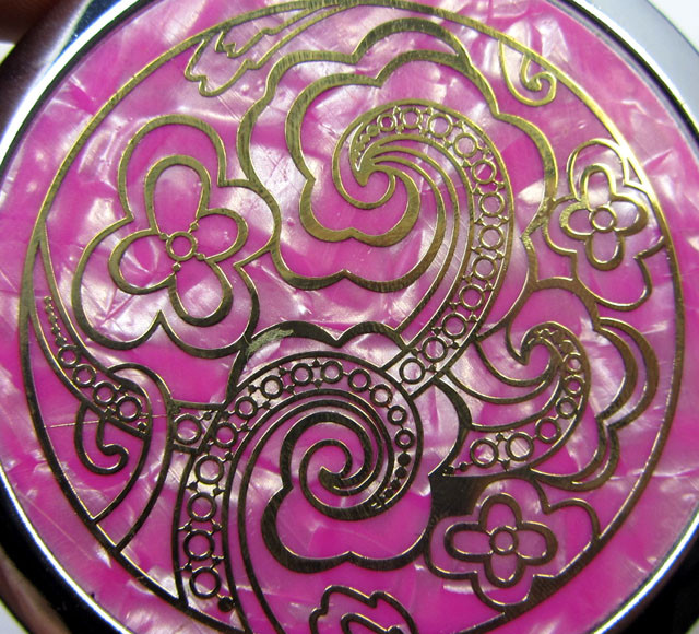 Pink Compact Makeup Mirror Double-Sided OP 62