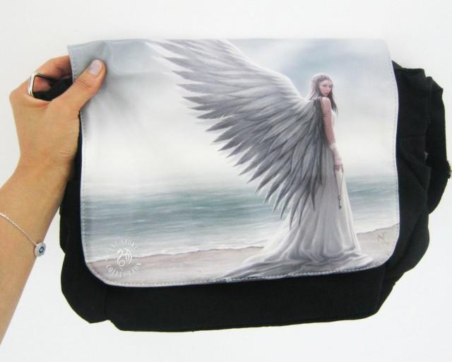 SPIRIT GUIDE MESSENGER BAG BY ANNE STOKES