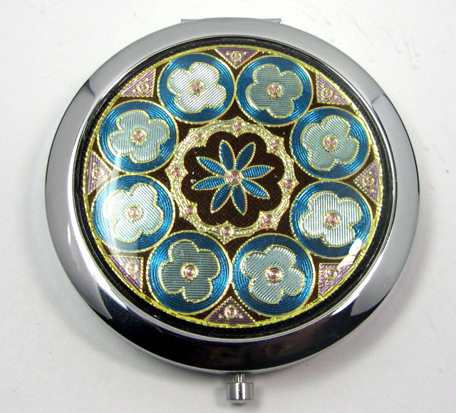 Vintage Compact Makeup Mirror Double-Sided OP 64